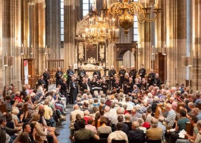 Performing in the Domkerk, Utrecht