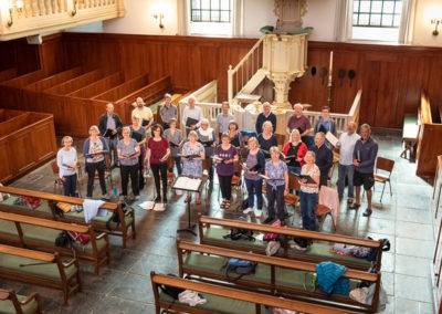 Rehearsal in the Lutheran church
